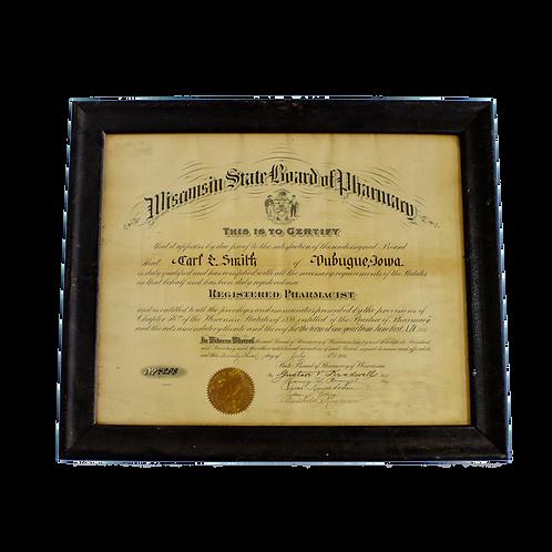 Registered Pharmacist Wisconsin Certificate