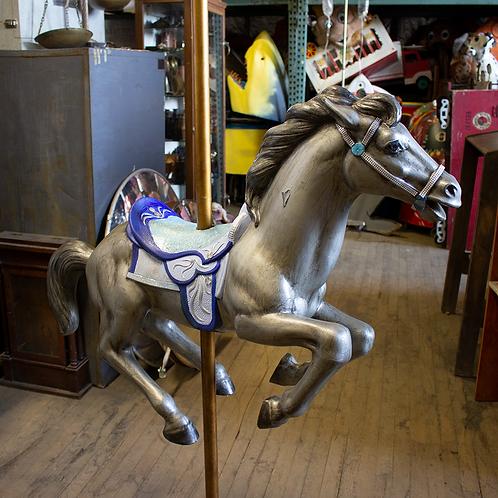 Silver Carousel Horse