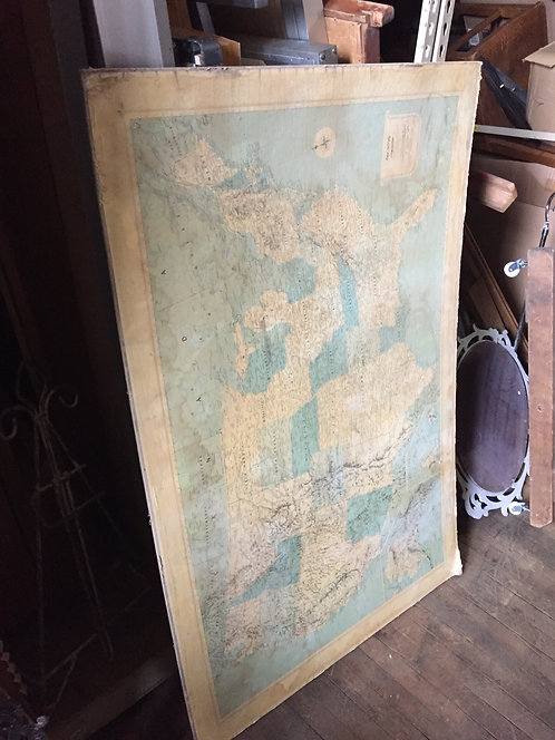 Faded United States Map