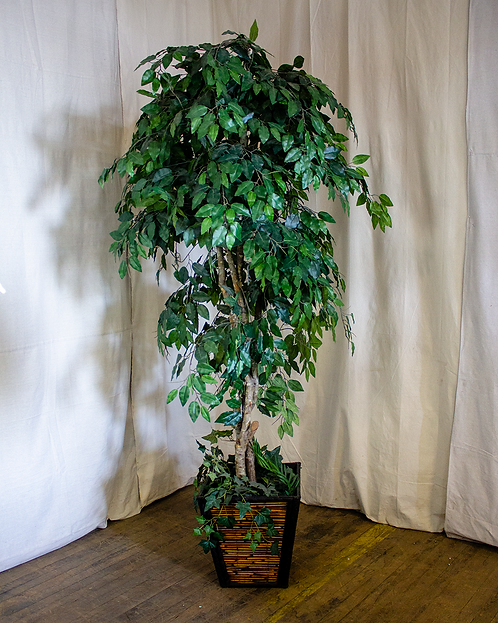 7ft Artificial Tree in Bamboo Planter