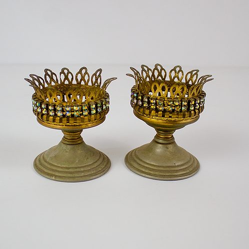 Small Brass Candleholders