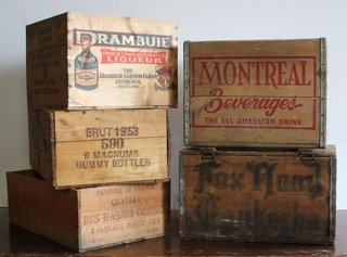 Various Crates with Labels