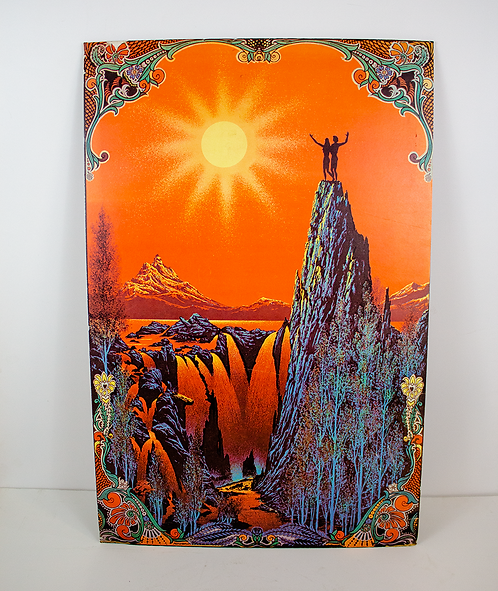 Sunset Psychedelic Poster