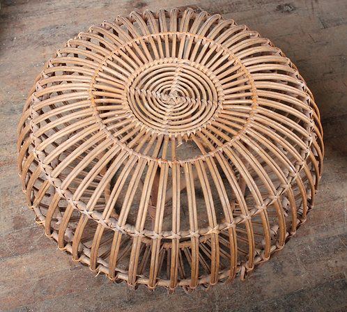 Wicker Woven Ottoman Pouf
