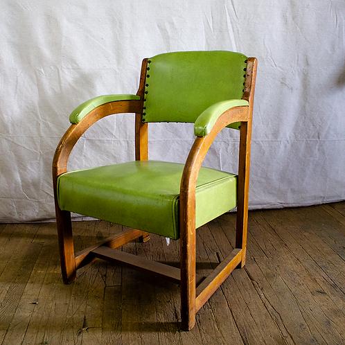 Green Wooden Armchair