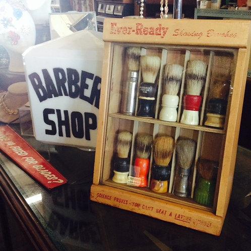 Barber Shop Shave Brush Display