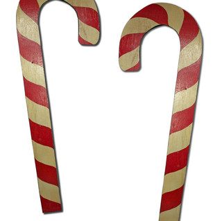 Oversized Peppermint Candy Canes
