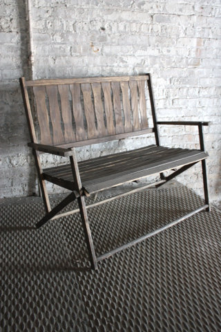 Folding Patio Bench Seat