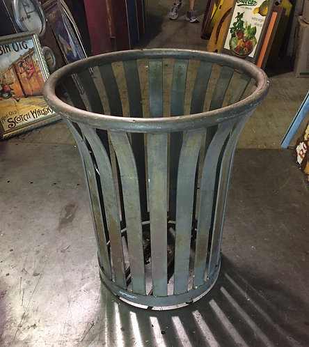 Large Metal Outdoor Trash Can