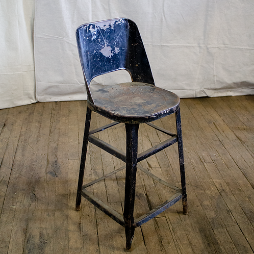 Black Rustic Metal Stool
