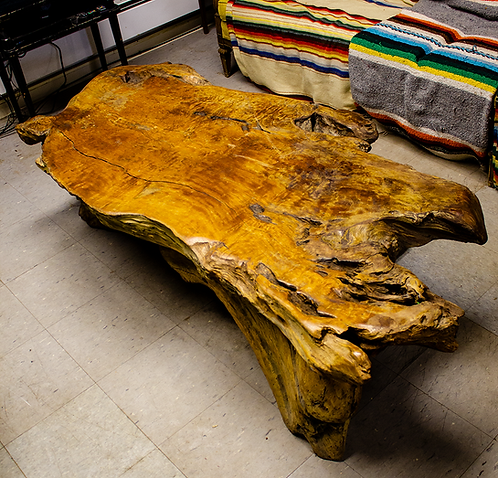 Large Wood Log Coffee Table
