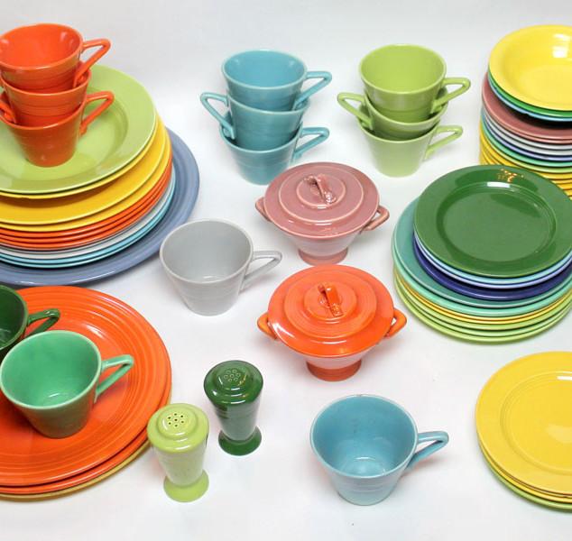 fiestaware, colorful tableware,
