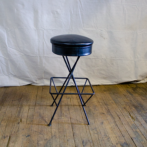 Black Square Bar Stool