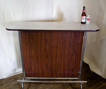 Simple Wood Front Mini Bar