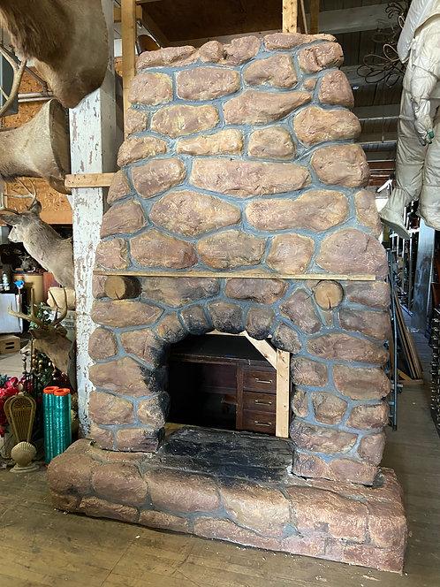 Large Faux Stone Fireplace