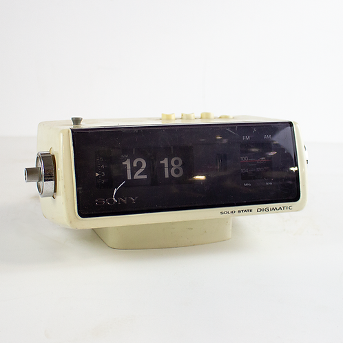 Sony Flip Clock Radio 1970s