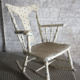White Painted Wooden Rocking Chair
