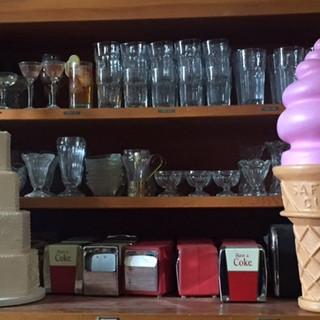 variety of glassware