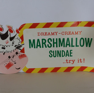 Dreamy Marshmallow Sundae Sign