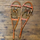 Thumbnail: Snowshoes with Leather Bindings - Orange