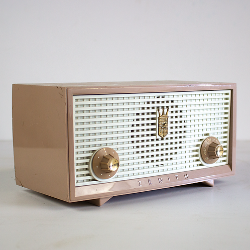 Light Tan Zenith Radio 1950s