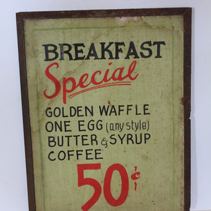 Breakfast Special 50 cents