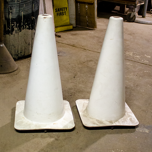 White Safety Cones