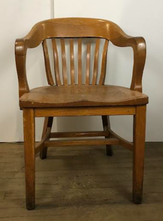 Wooden Bank Of England Office Chair