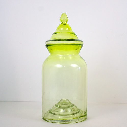 Light Green Large Apothecary Glass Jar