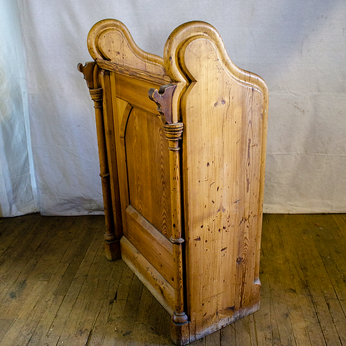 Wood Pulpit with Arched Sides