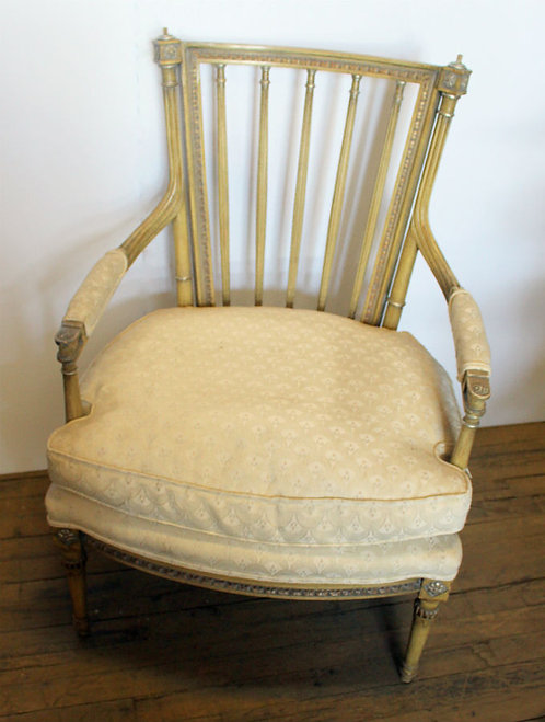 Gold and Cream Chair