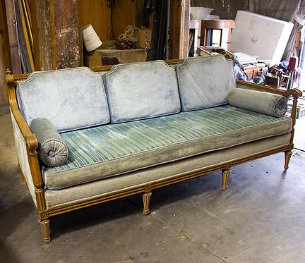 Light Blue Velvet Couch