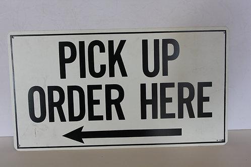 Pickup Order Here Diner Sign