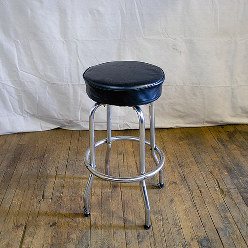 Black Basic Bar Stool