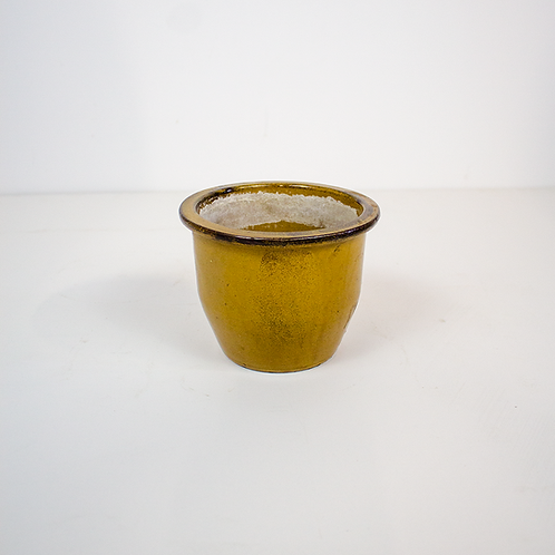 Small Yellow Ceramic Planter