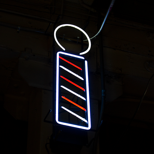 Barber Pole Neon SIgn