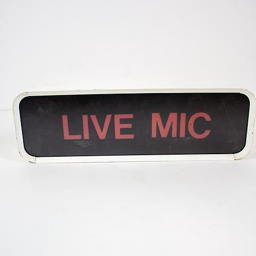 Live Mic Sign
