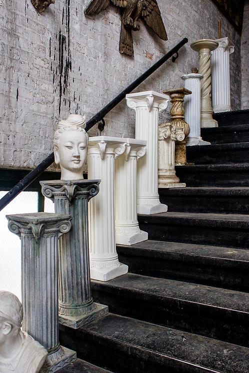 Short Greek Columns Roman Pedestals