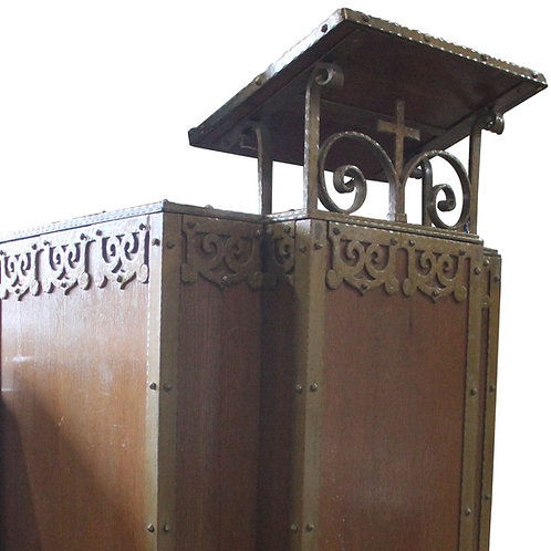 Wood Pulpit with Cross