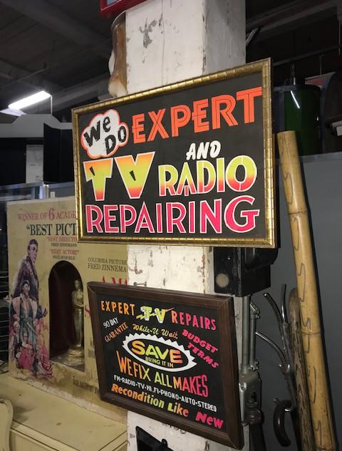 TV and Radio Repair sign