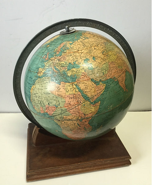 Tabletop Globe on Wooden Base