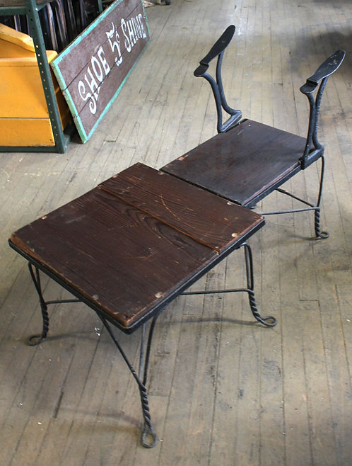 Wooden Shoe Shine Stand