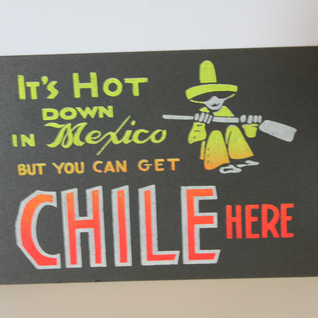 Mexico Chile sign