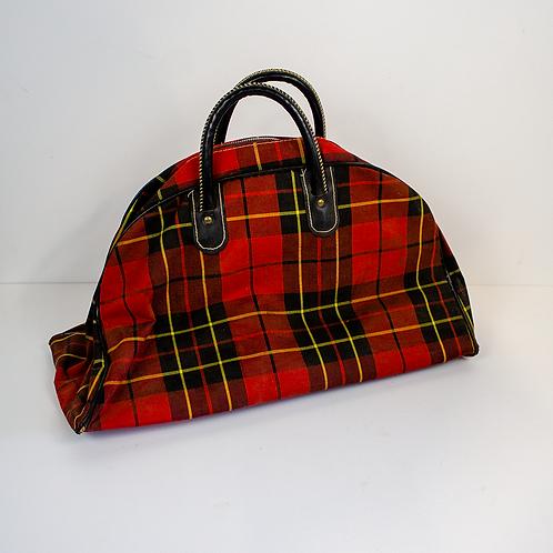 Red Tartan Travel Bag