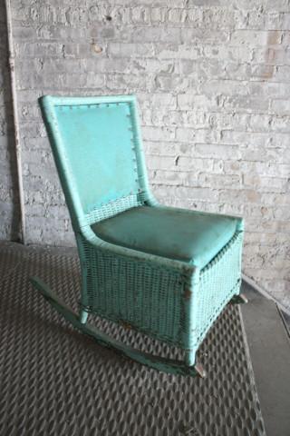 Teal Blue Rocking Chair  $45.00 per week rental