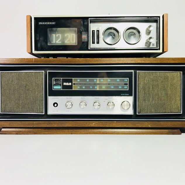 Panasonic (Top) RCA (Bottom) radio