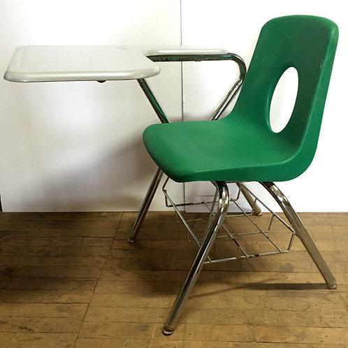 School Desk w/ Green Chair