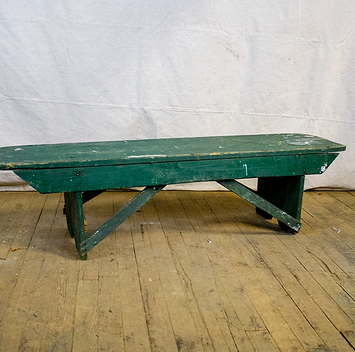 Green 4ft Wood Bench