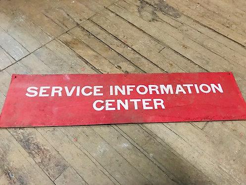 Service Information Center Sign