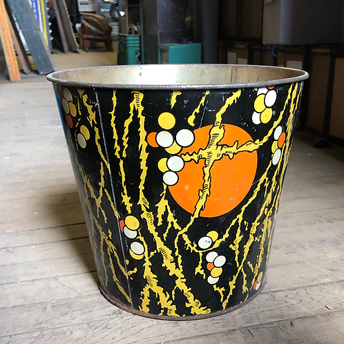 Small Orange and Black Trash Can